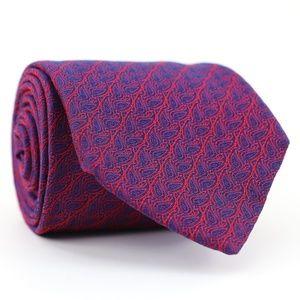 Charles Tyrwhitt Silk Tie Blue/Red Paisley England